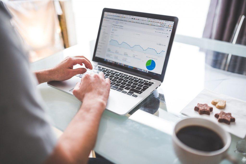 analytics, charts, graphics