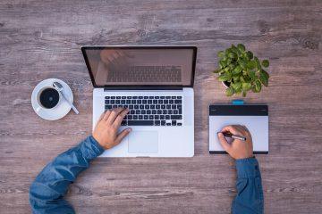laptop, mockup, graphics tablet